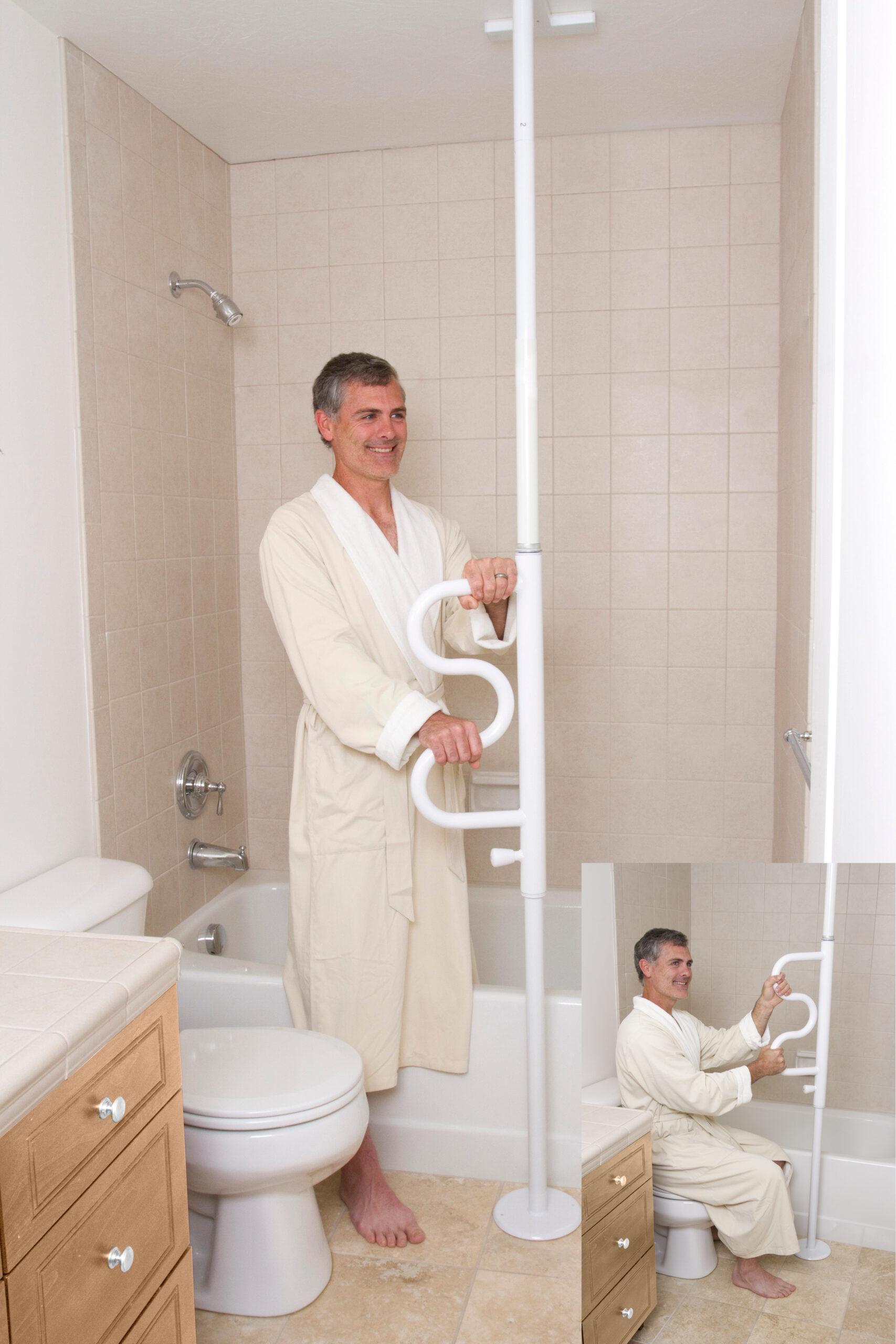 Bodendeckenstange Pole Badezimmer Hilfsmittel   Flaggl Pflege  und ...