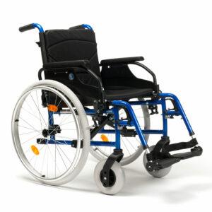 Vermeiren D200-V-BG Leichtgewicht-Rollstuhl, inkl. Trommelbremse für Begleiter, Metallic blau